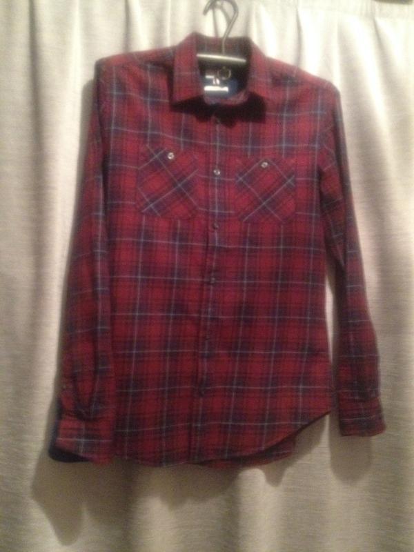 Оригинальная рубашка в клетку.088