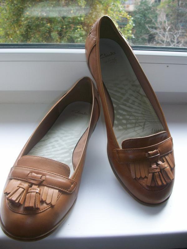 Туфли женские натуральная кожа clarks р.42