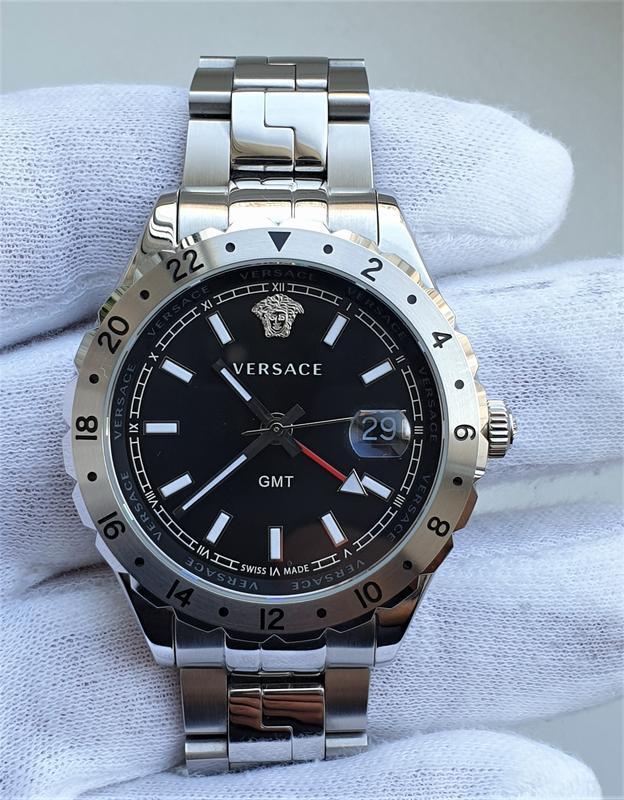 Мужские часы versace v11020015 hellenyium gmt 42mm sapphire