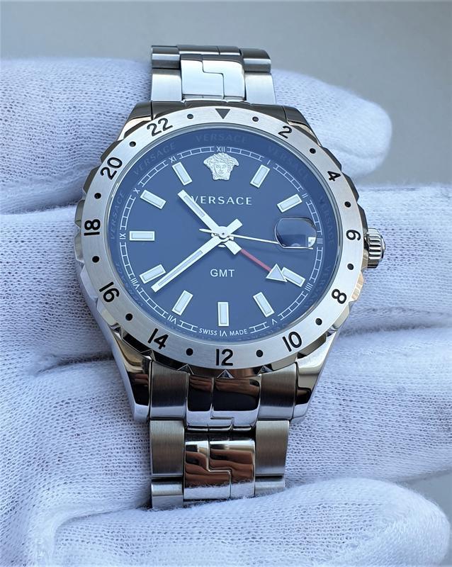 Мужские часы versace v11020015 hellenyium gmt 42mm sapphire - Фото 2