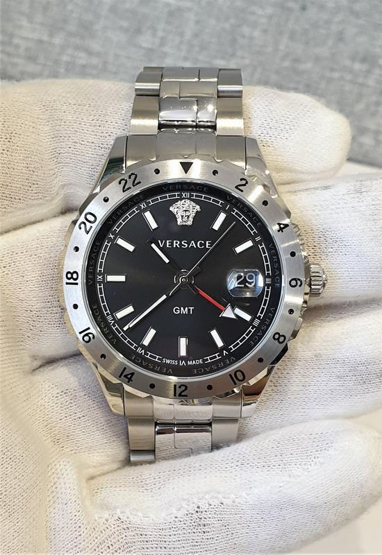 Мужские часы versace v11020015 hellenyium gmt 42mm sapphire - Фото 3