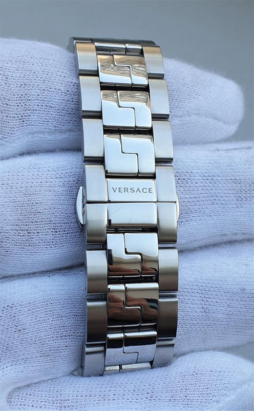 Мужские часы versace v11020015 hellenyium gmt 42mm sapphire - Фото 9