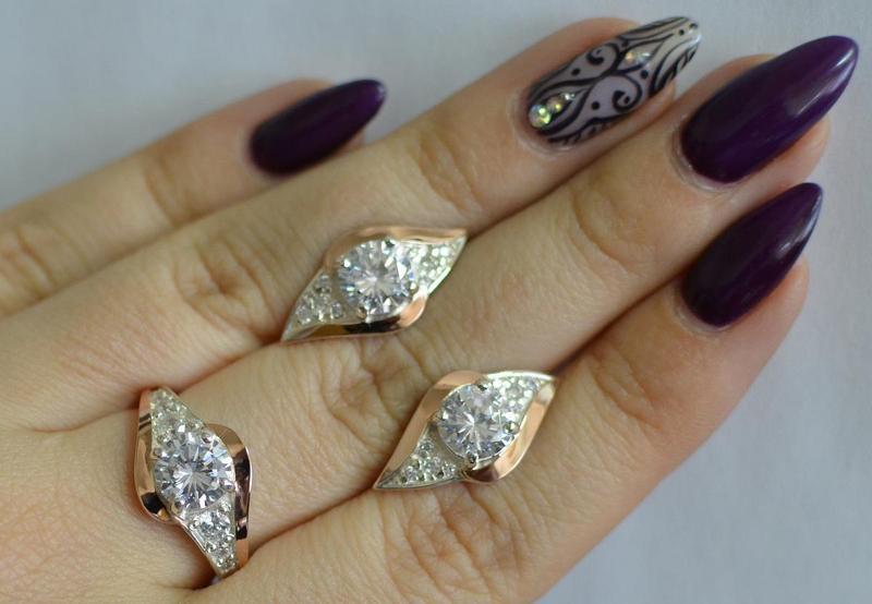 Серьги серебро 925 с золотом 145с - Фото 4