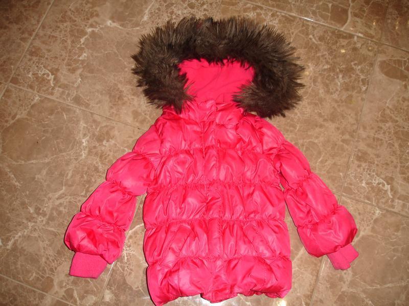 Фирменная gap яркая малиновая деми куртка на 3-4 года