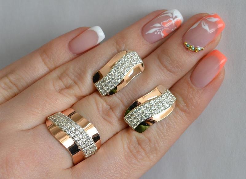 Кольцо серебро 925 с золотом 131к - Фото 7