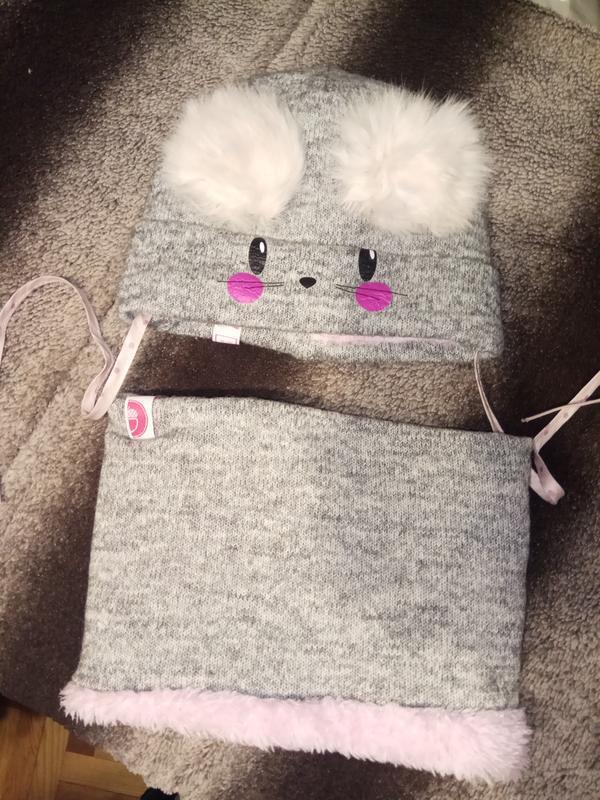Комплект зимний набор шапка и хомут на зиму