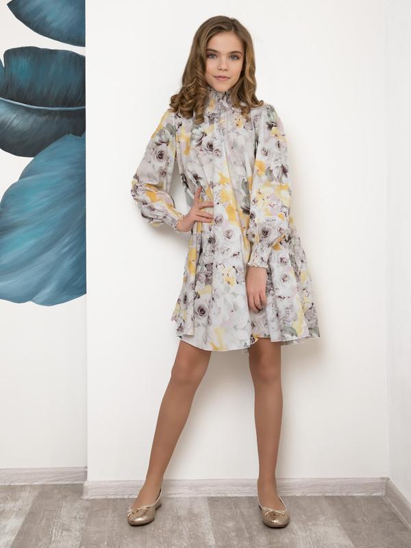 Принтованное платье-трапеция