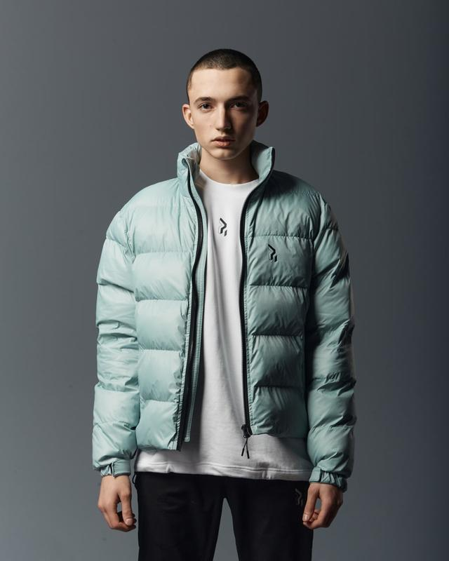 Короткая мужская куртка-пуховик мята - Фото 2
