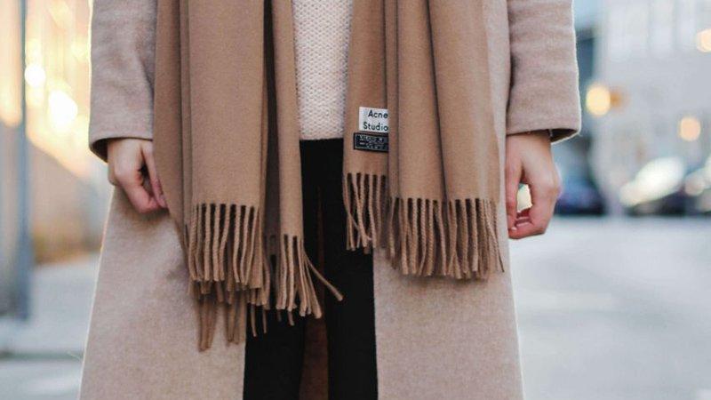 Теплый палантины из шерсти ламы зима