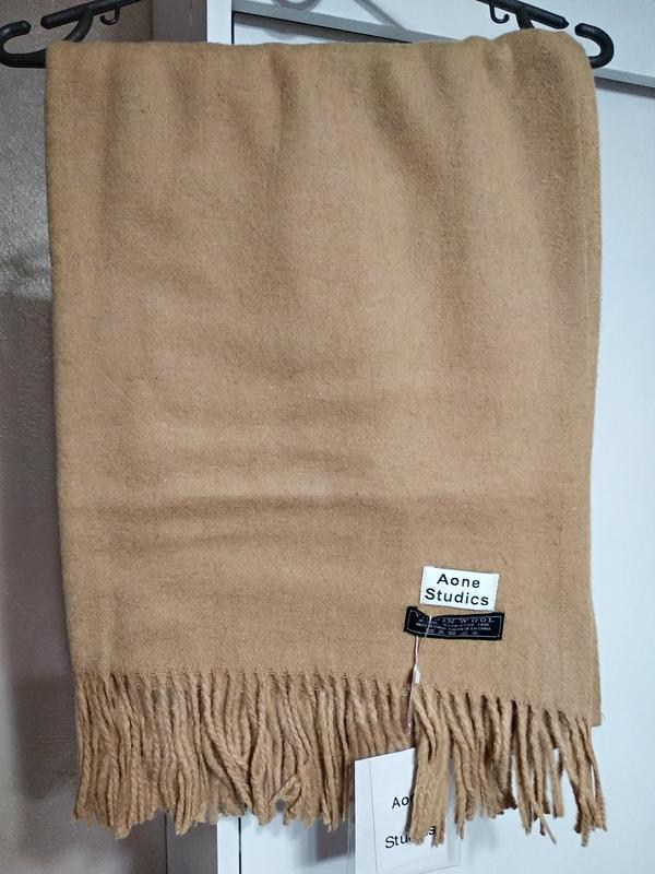 Теплый палантины из шерсти ламы зима - Фото 2