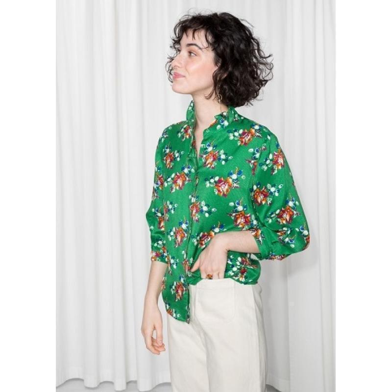 & other stories блуза блузка рубашка, цветочный принт