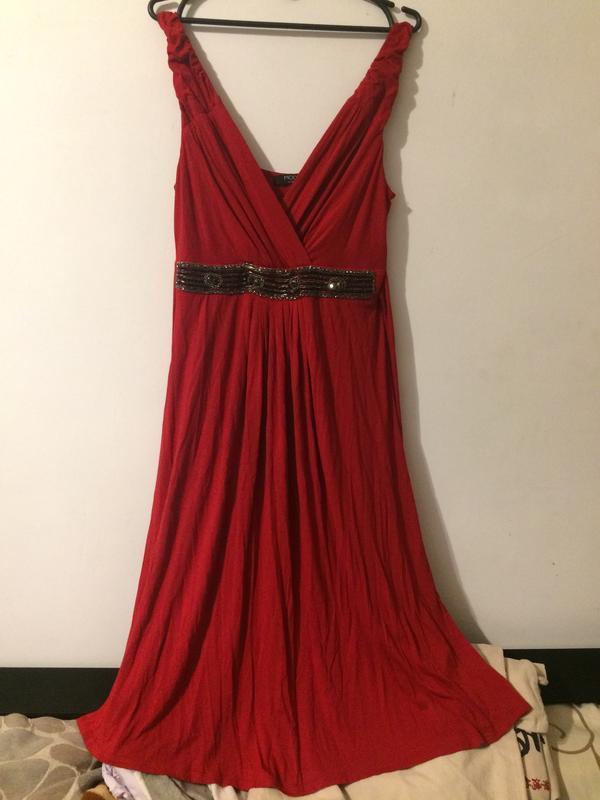 Moda george платье сукня сарафан красный