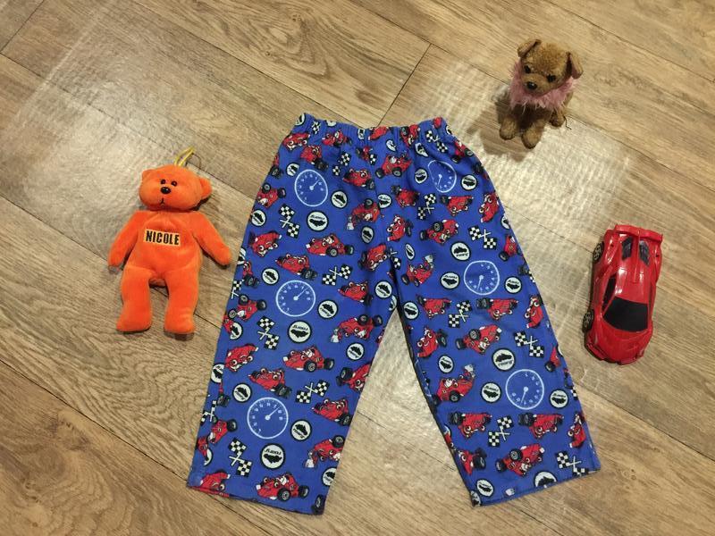 Яркие фланелевые(байковые) домашние штаны с машинкой*roary*, н...