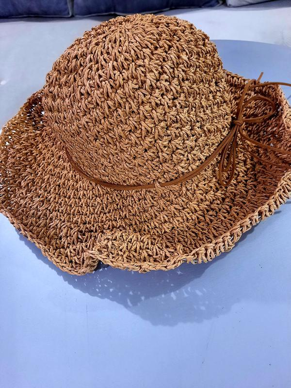 Летняя шляпа плетеная шляпа натуральная шляпка соломяная шляпа