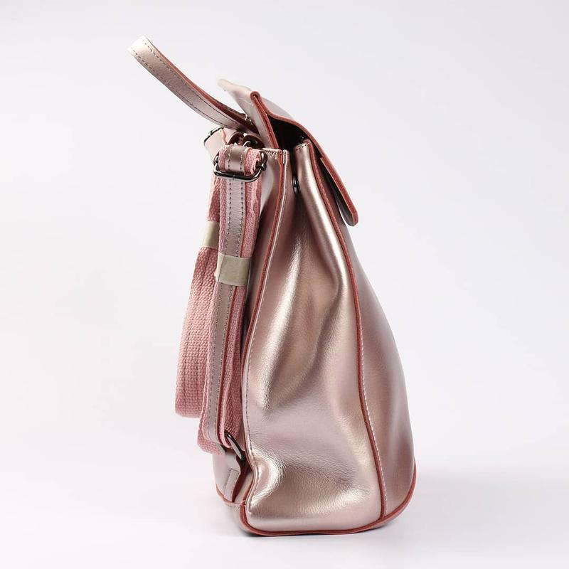 Женский кожаный рюкзак трансформер сумка на плечо жіночий рюкзак - Фото 7
