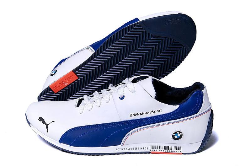 Мужские кожаные кеды Puma BMW MotorSport - Фото 4