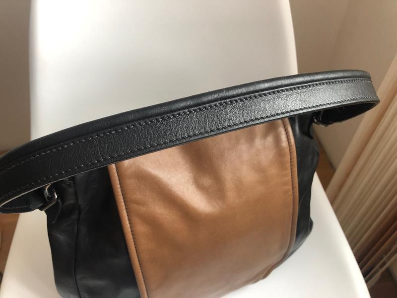 Кожаная итальянская сумка сoccinelle - Фото 2