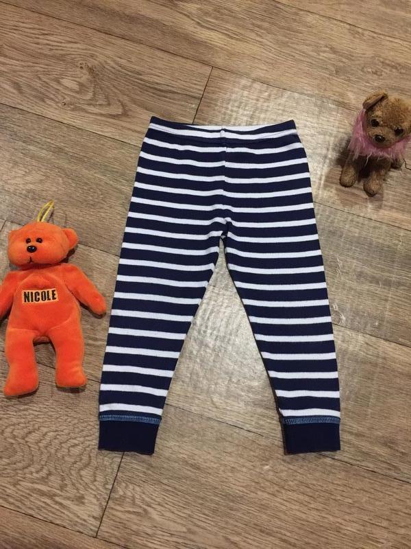 Трикотажные штанишки в полоску для дома и сна ,на 1.5\2 года ....