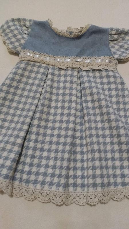 Оригинальное платье под винтаж ручной работы, 6-9 месяцев