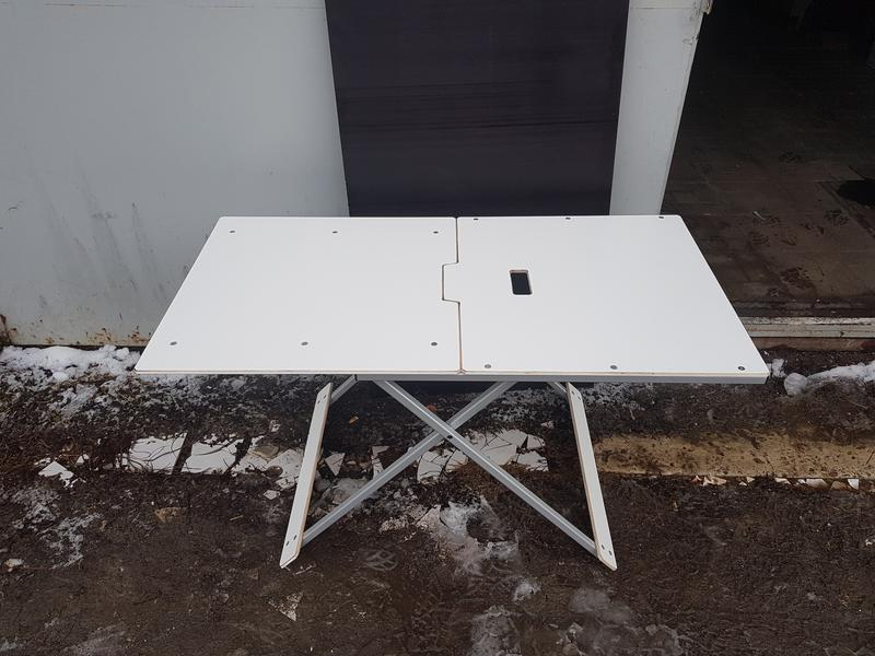 Стол, столик алюминиевый для пикника. Раскладной, усиленный.
