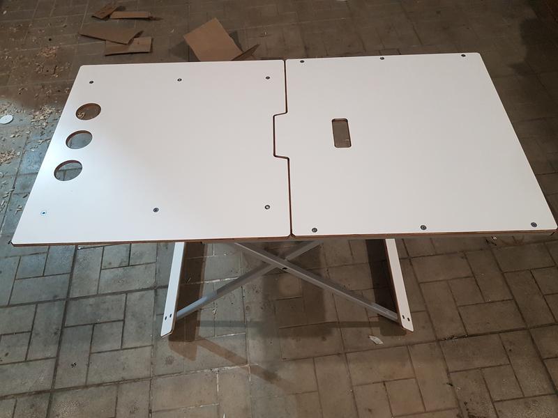 Стол, столик алюминиевый для пикника. Раскладной, усиленный. - Фото 3