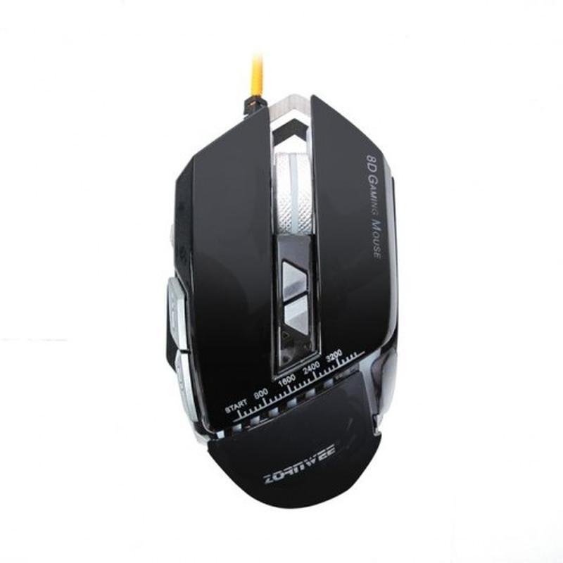 Компьютерная игровая мышь, мышка Zornwee GX10 с подсветкой Чёрный