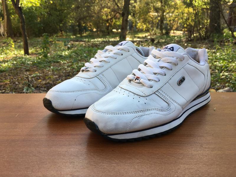 Кроссовки Fila Classic Reebok белые,кожаные,легкие Р.39 Original