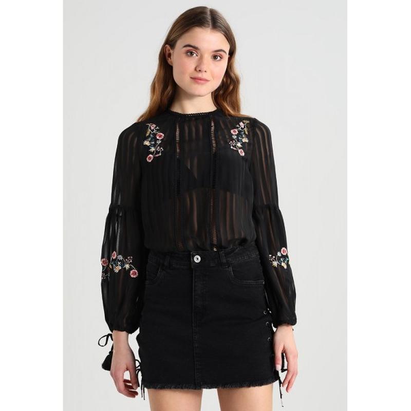 """Блуза шифоновая с вышивкой и объемными рукавами """"new look"""""""