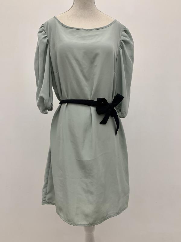Шикарное платье 👗 пыльного серо-зеленого цвета
