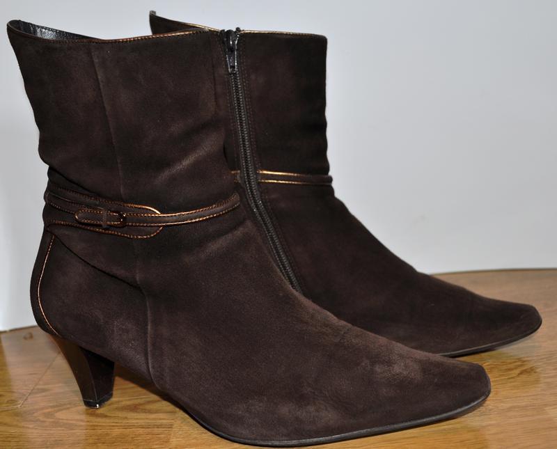 Замшевые ботинки демисезонные hogl коричневые
