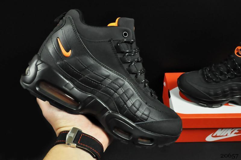Ботинки nike air max 95 sneakerboot (зимние, найк, черные)