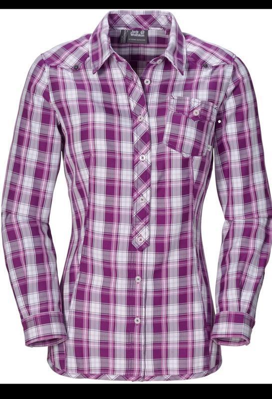 Крутая рубашка блуза в клетку jack wolfskin оригинал, размер 4...