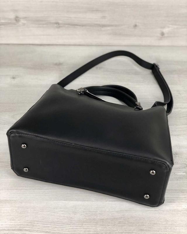 Стильная сумка на три отделения с кошельком - Фото 4