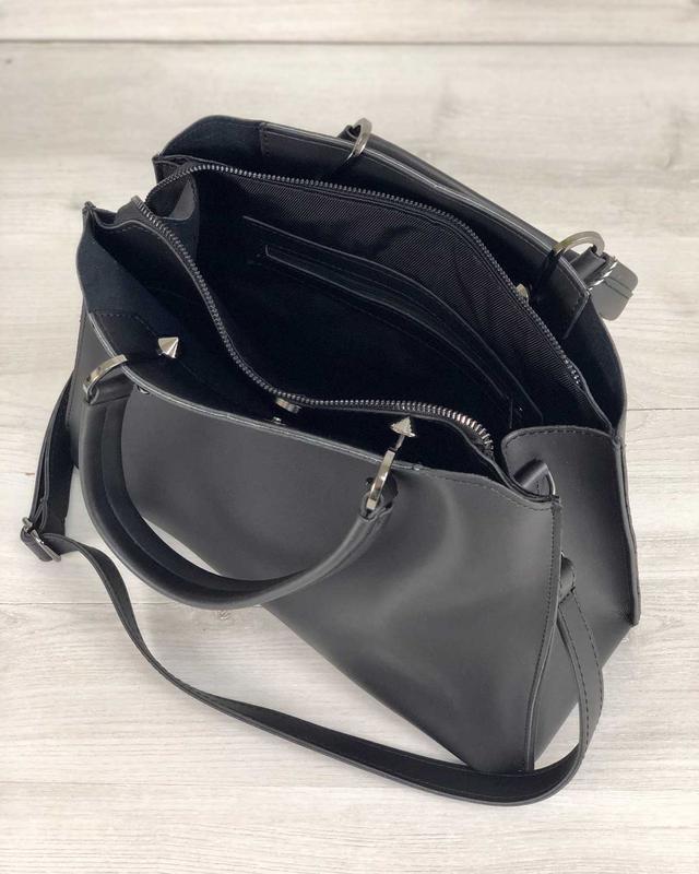 Стильная сумка на три отделения с кошельком - Фото 5