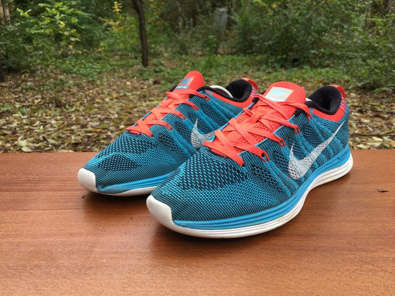 Кроссовки Nike Flyknit One беговые,сеточка,голубые Р.40,5 Origina