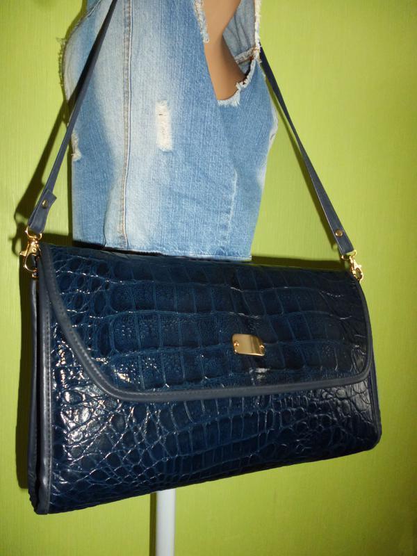 Шикарная сумка натуральная кожа - Фото 3