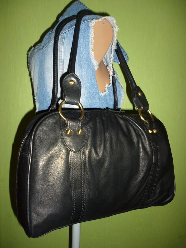 Стильная большая сумка натуральная кожа f&f - Фото 3