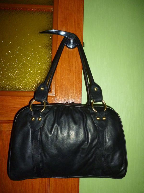Стильная большая сумка натуральная кожа f&f - Фото 4