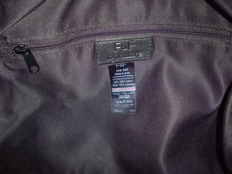 Стильная большая сумка натуральная кожа f&f - Фото 5