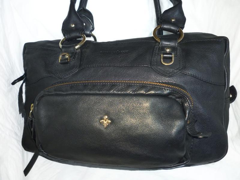 Стильная большая сумка натуральная кожа patrick cox