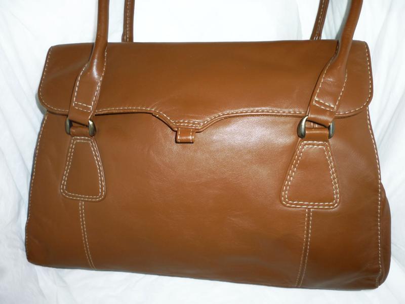 Стильная вместительная сумка натуральная кожа f&f