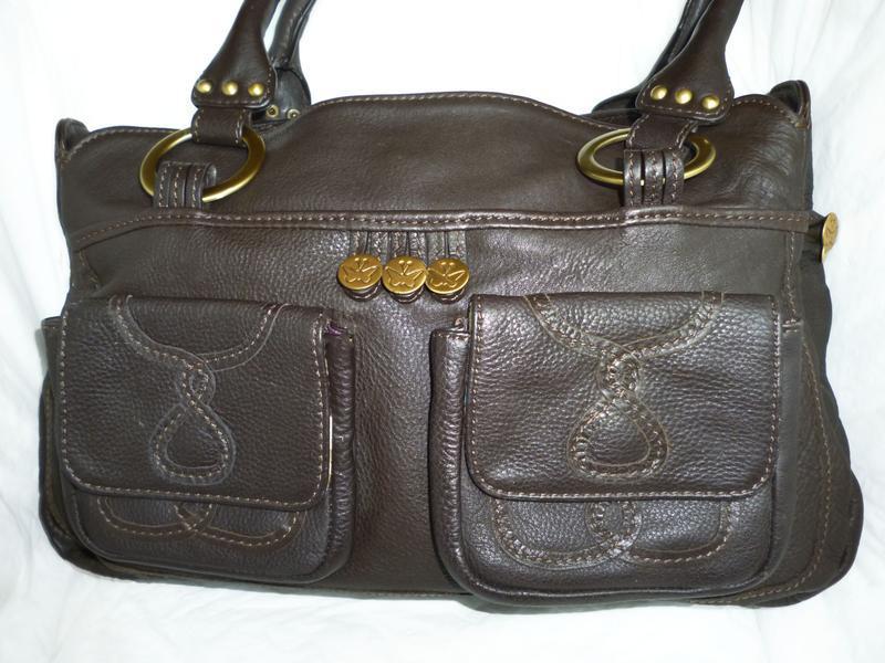 Стильная большая сумка натуральная кожа buttefly