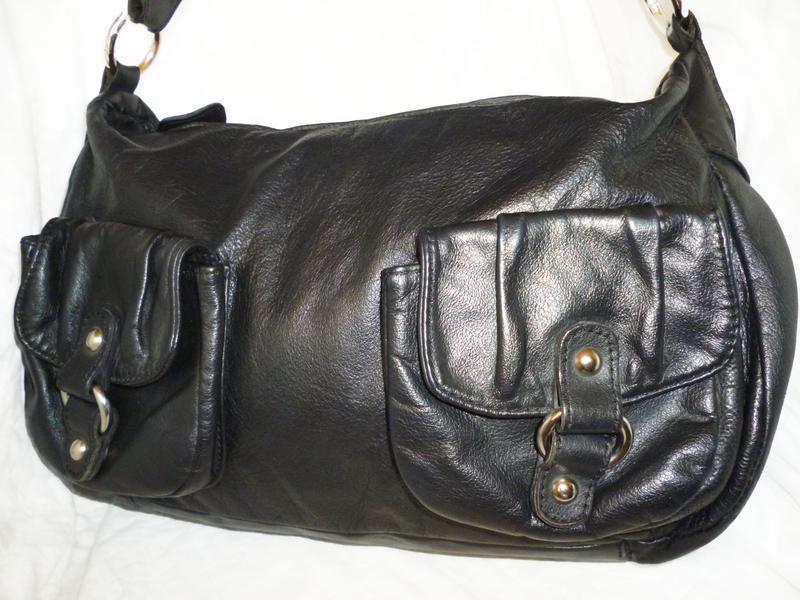 Стильная вместительная сумка натуральная кожа италия