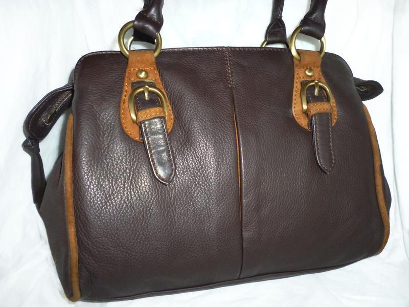 Стильная вместительная сумка натуральная кожа clarks