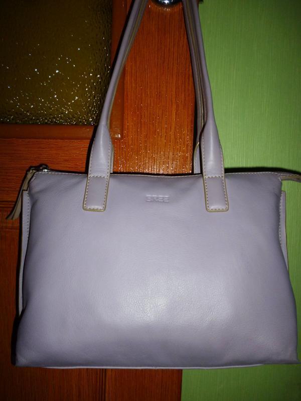 Стильная вместительная  сумка натуральная кожа bree - Фото 3