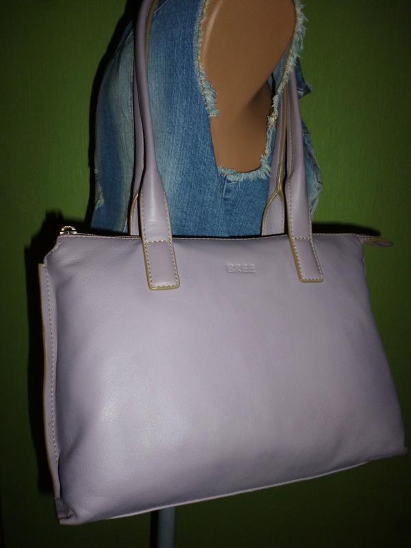 Стильная вместительная  сумка натуральная кожа bree - Фото 4