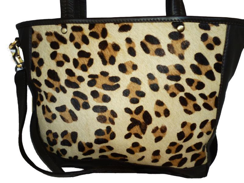 Шикарная вместительная сумка натуральная кожа