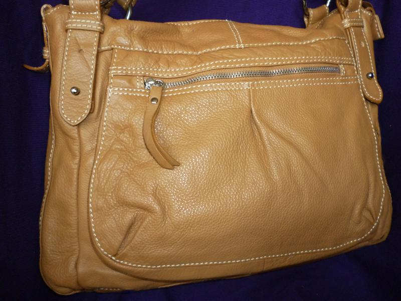 Стильная большая сумка натуральная кожа  moda pelle