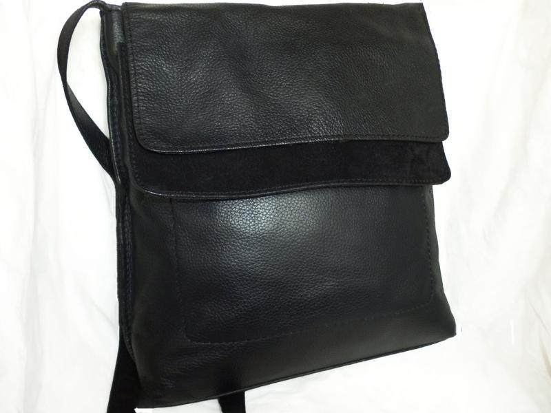 Стильная вместительная сумка натуральная кожа next