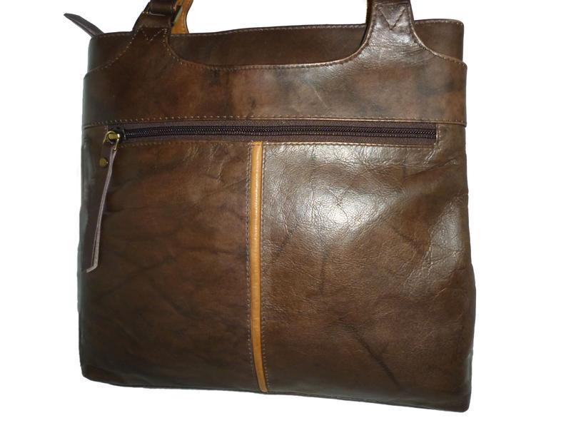 Стильная вместительная сумка натуральная мраморная кожа